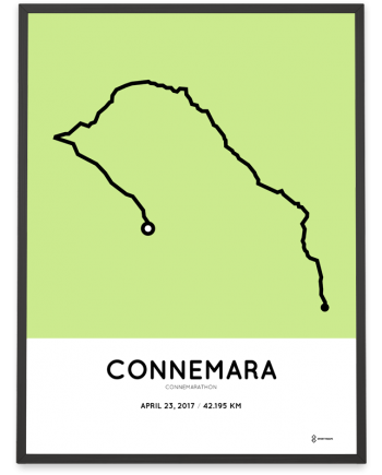 2017 Connemarathon course poster