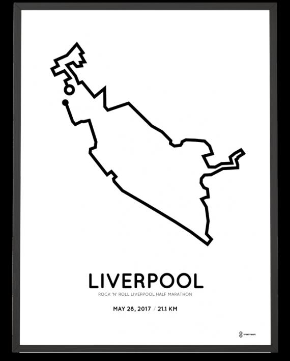 2017 Liverpool half marathon course poster personalized