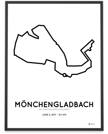2017 Monchengladbach half marathon strecke poster