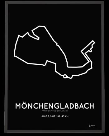 2017 Monchengladbach marathon strecke print