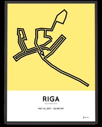 2017 Riga marathon course poster