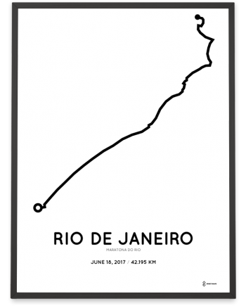 2017 maratona do rio percoursa course poster