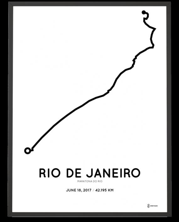 2017 maratona do rio percoursa course poster