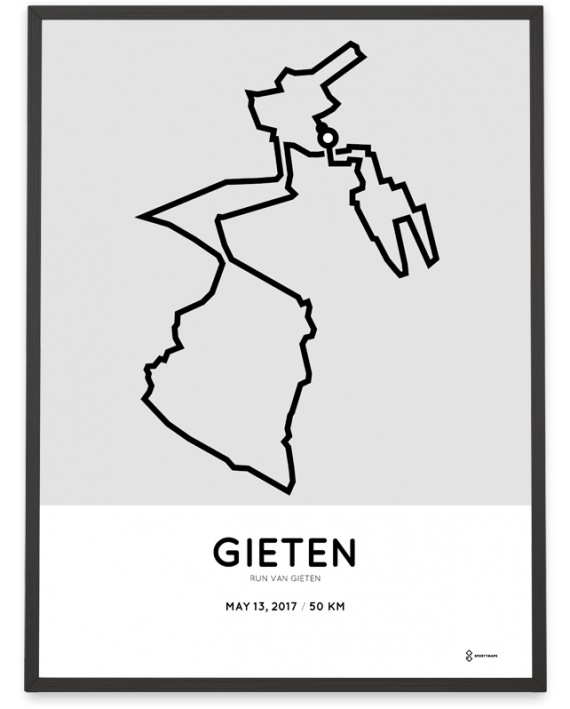 2017 Run van Gieten 50km route poster