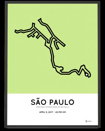 2017 Sao Paulo marathon course poster