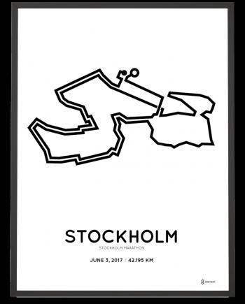 2017 Stockholm marathon course poster