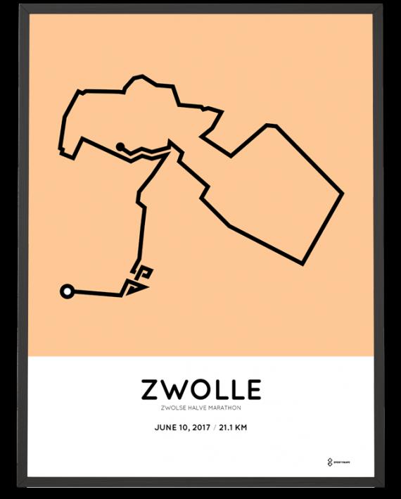 2017 Zwolle halve marathon parcours print