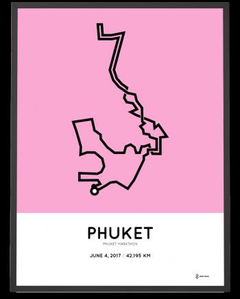 2017 phuket marathon course poster