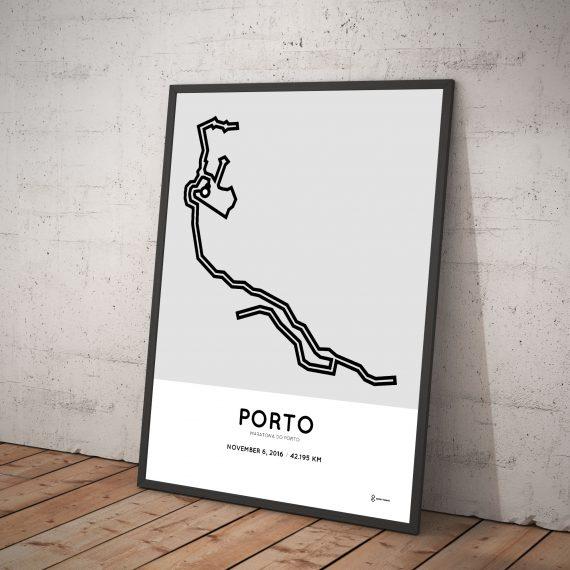 2016 Porto marathon course poster