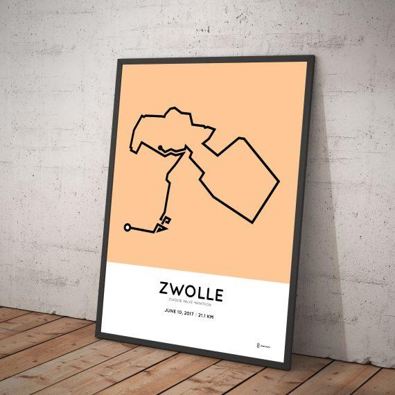 2017 Zwolse halve marathon route poster