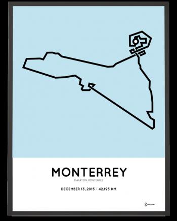 2015 Monterrey marathon course print