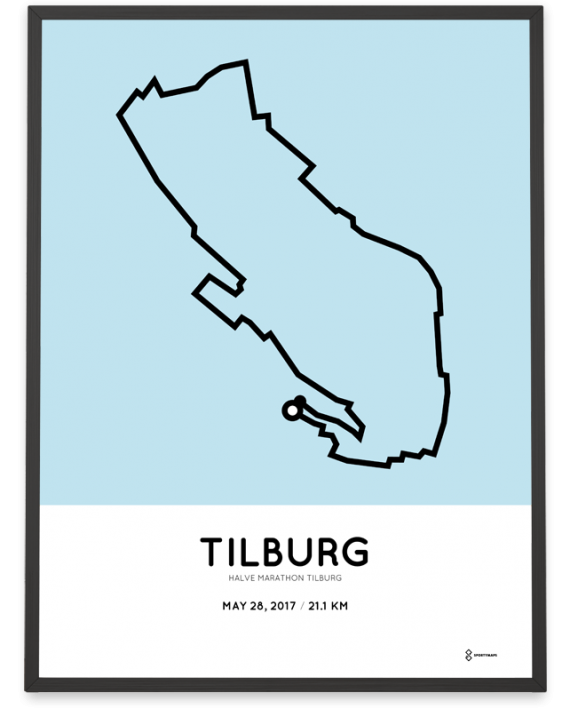 2017 2017 Tilburg halve martahon route poster
