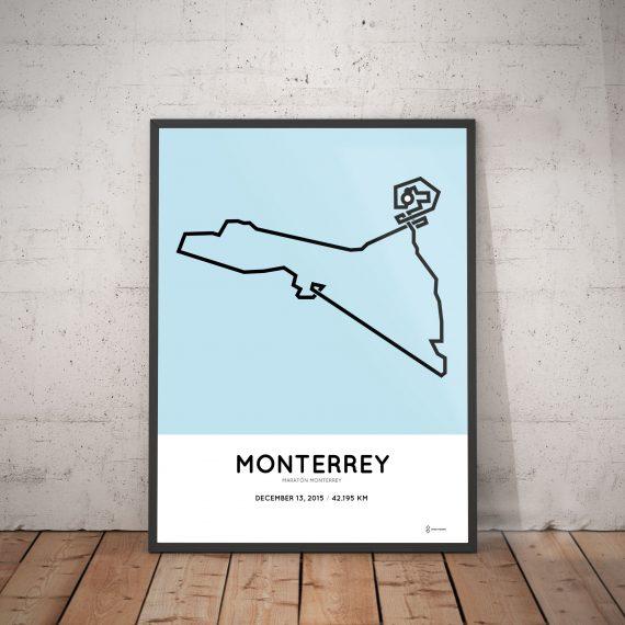 2015 Maraton Monterrey course poster