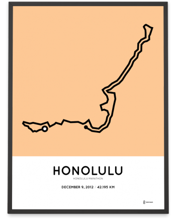 2012 Honolulu marathon course poster