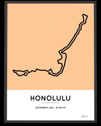 2012 Honolulu marathon course poster