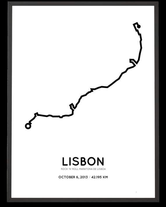 2013 Lisbon marathon course poster