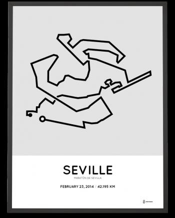 2014 Maraton de Sevilla course poster