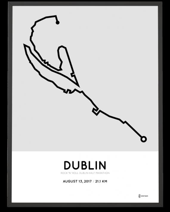 2017 Dublin half marathon course poster