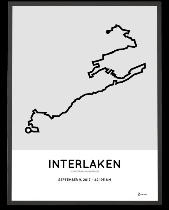 2017 Jungfrau marathon course poster
