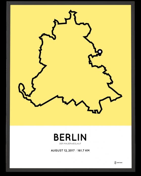 2017 Mauerweglauf strecke poster