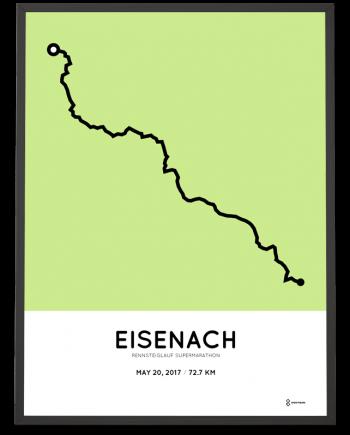 2017 Rennsteiglauf Supermarathon strecke poster