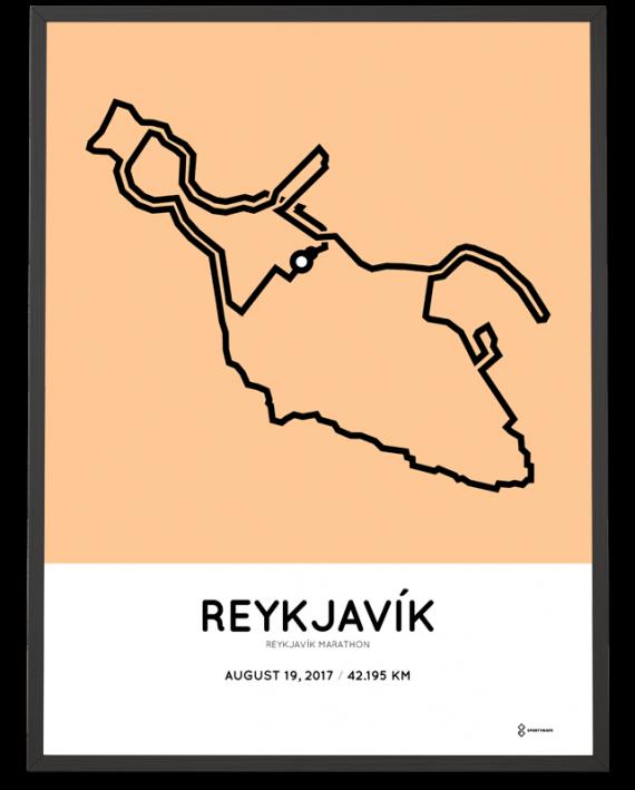 2017 Reykjavik marathon course poster