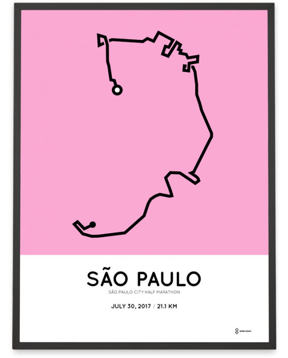 2017 Sao Paulo City half marathon course poster