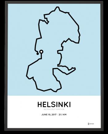 2017 helsinki half marathon course poster