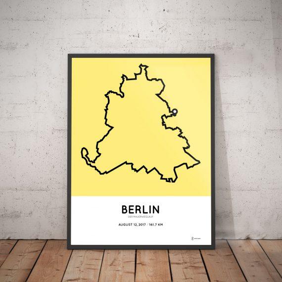 2017 100 Meilen Berlin course poster