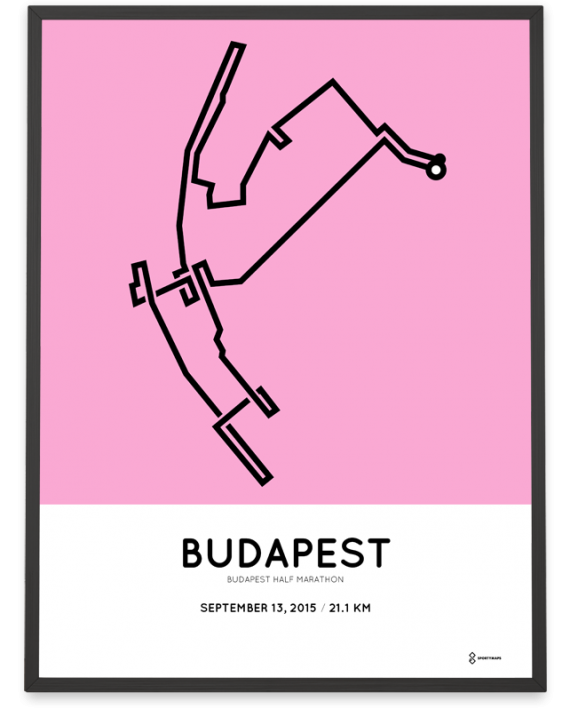 2015 Budapest half marathon route print