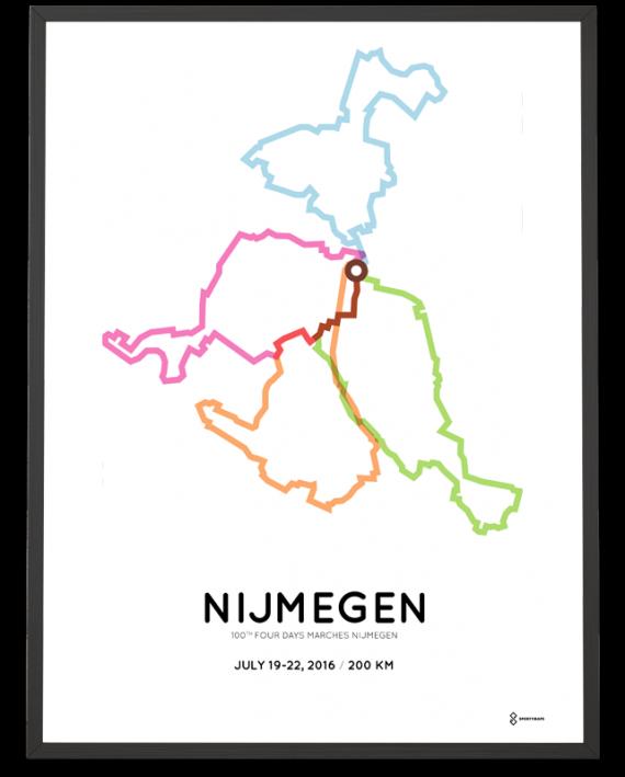 2016 Nijmeegse Vierdaagse 200km route print