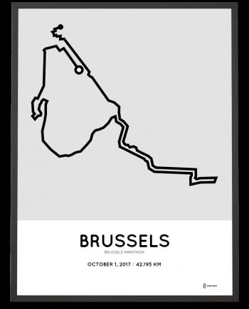 2017 Brussels marathon course poster