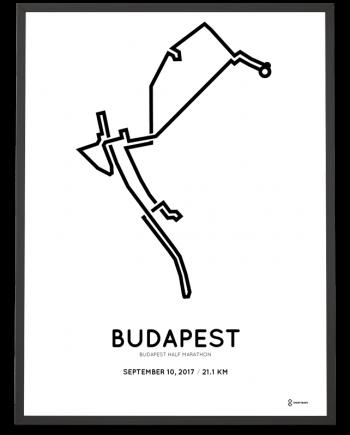 2017 Budapest half marathon course poster