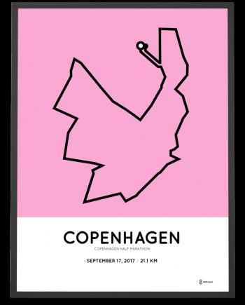 2017 Copenhagen half marathon course poster