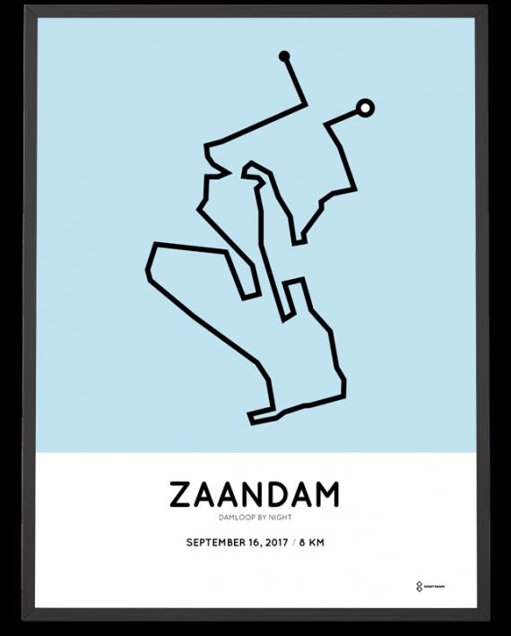2017 Damloop by night route poster