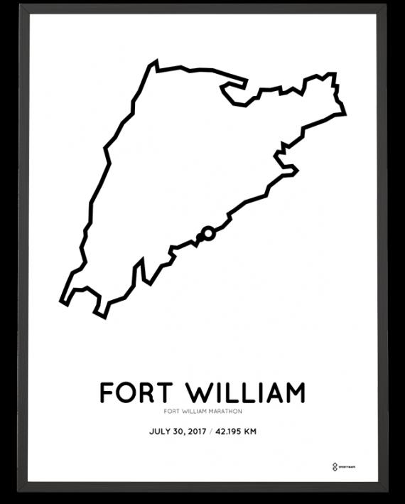 2017 Fort William marathon course poster