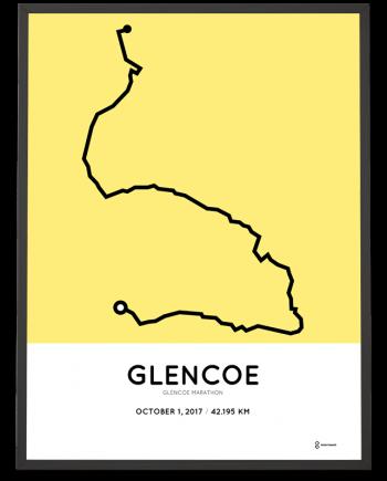 2017 Glencoe marathon course poster