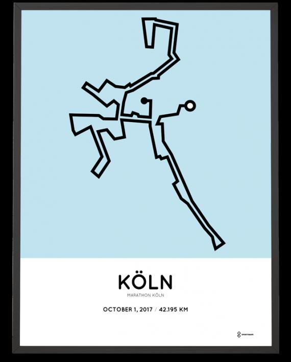 2017 Koln marathon course poster