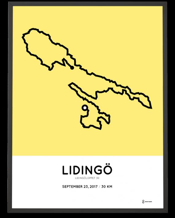 2017 Lidingoloppet 30 course poster