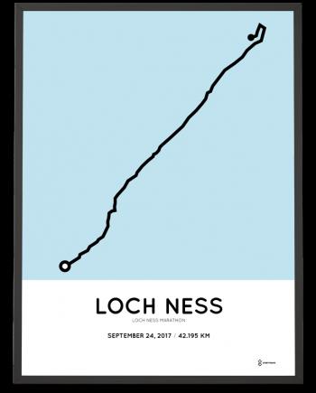 2017 Loch Ness marathon course poster