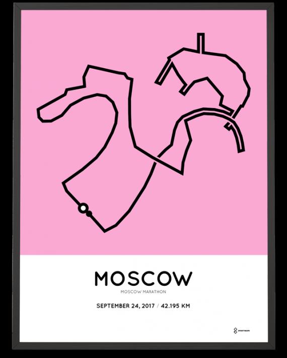 2017 Moscow marathon course poster