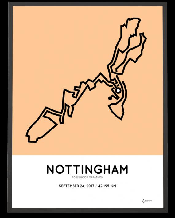 2017 Robin Hood marathon course poster