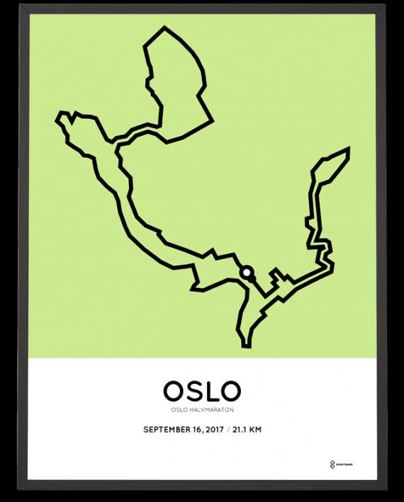 2017 Oslo halvmaraton course poster