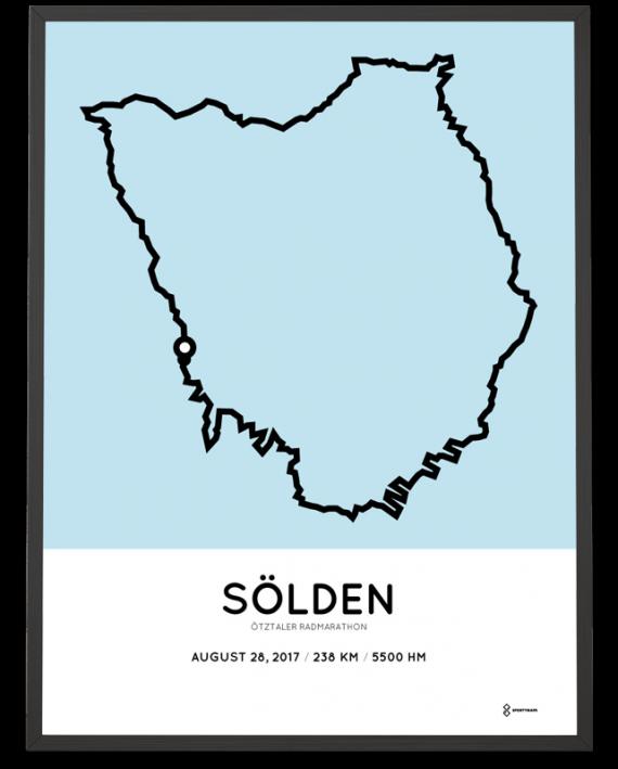 2017 Otztaler radmarathon course poster
