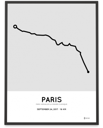 2017 Paris-Versailles La Grande Classique parcours poster