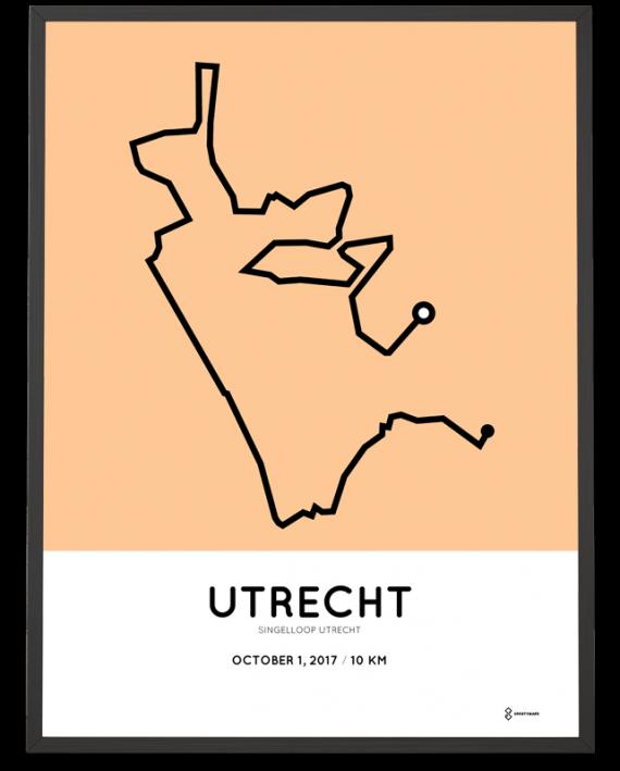 2017 Singelloop Utrecht 10k parcours poster