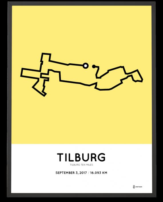 2017 Tilburg ten miles course poster