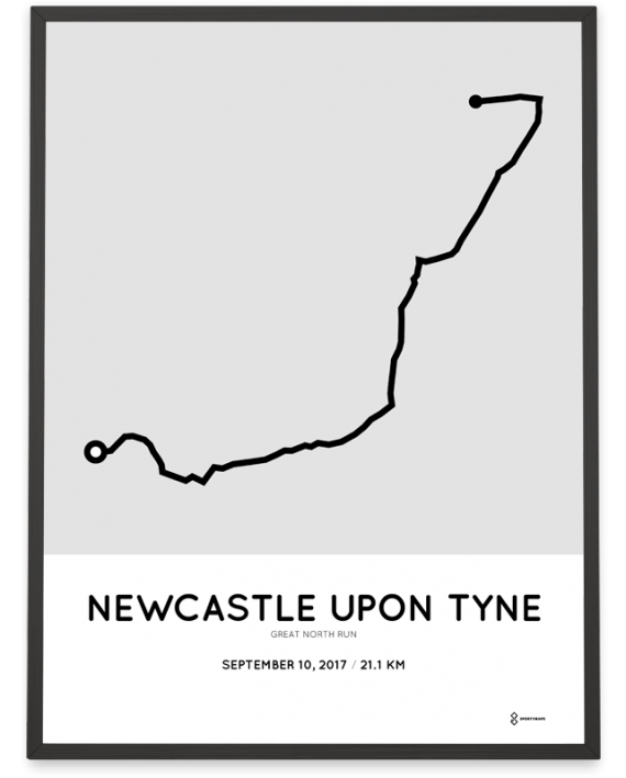 2017 great north run course poster