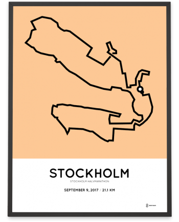 2017 stockholm half marathon course poster