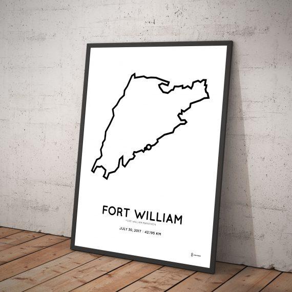 2017 Fort William marathon course print